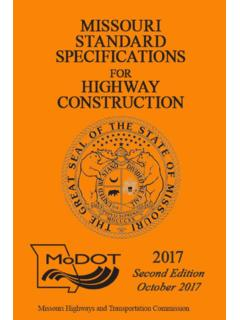2017 Missouri Standard Specifications for Highway …